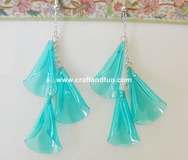 Earrings Made with Recycled Plastic Bottle Do-It-Yourself Ideas Upcycled Jewelry Ideas