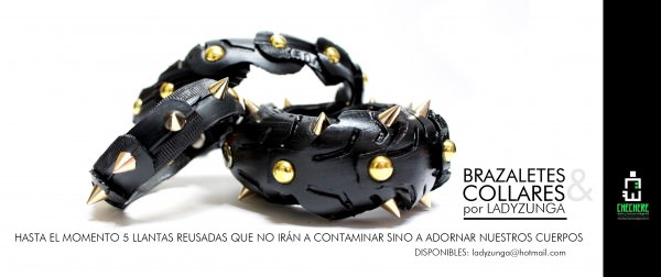 Recycled tire bracelets Recycled Rubber