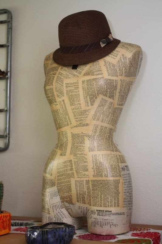 Hat Holding Mannequin Do-It-Yourself Ideas Recycled Art