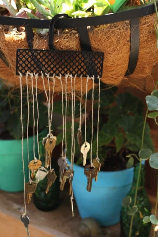 Recycled Key Wind Chime Accessories Recycling Metal