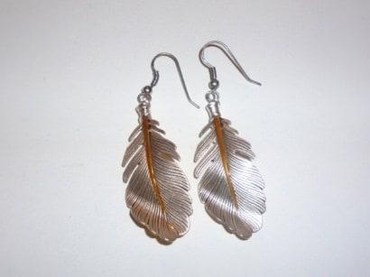 Funky button earrings