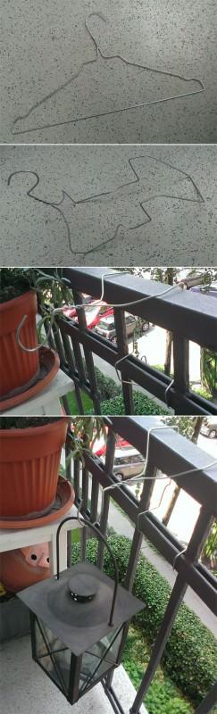 Easy Hook from a Coat Hanger Do-It-Yourself Ideas Garden Ideas