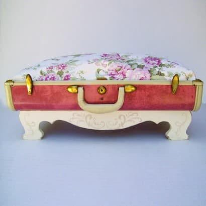 Suitcase pet beds made from vintage suitcases