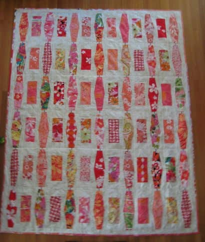 Recycled clothes Quilt Inspired by a Parking Garage