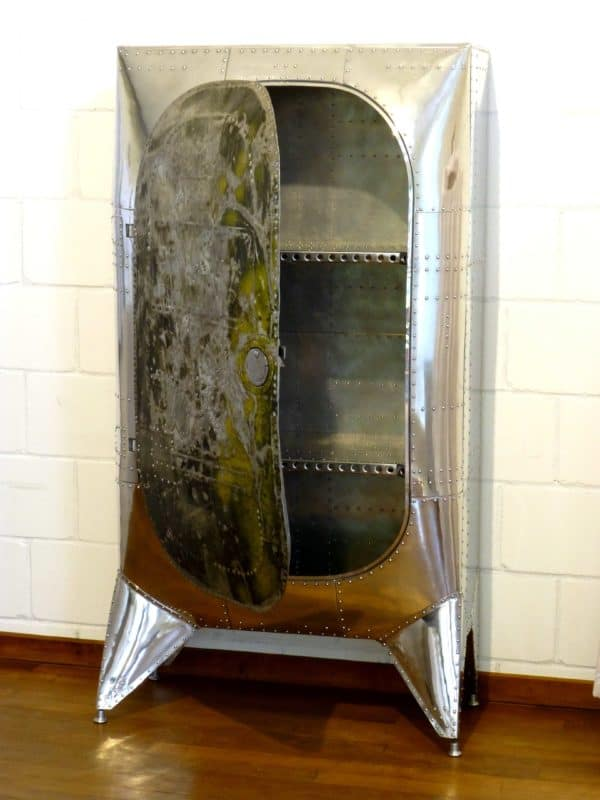 Aviation cabinet in furniture  with Recycled Furniture Door