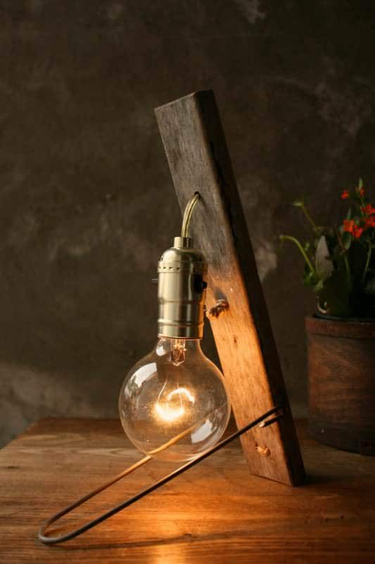 Vintage Wood Lamp Lamps & Lights
