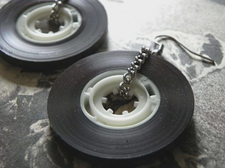 Old School Cassette Tape Earrings!