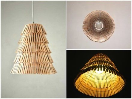 Clothespin pendant lamp