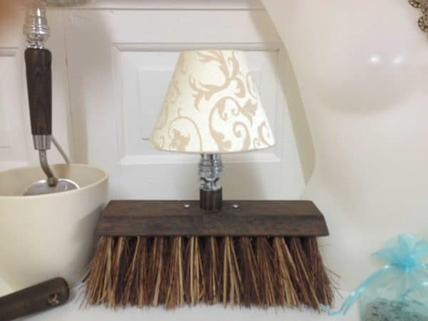 Hand Garden Fork, Spade Table Lamp and Yard Broom Table Lamp Garden Ideas Lamps & Lights