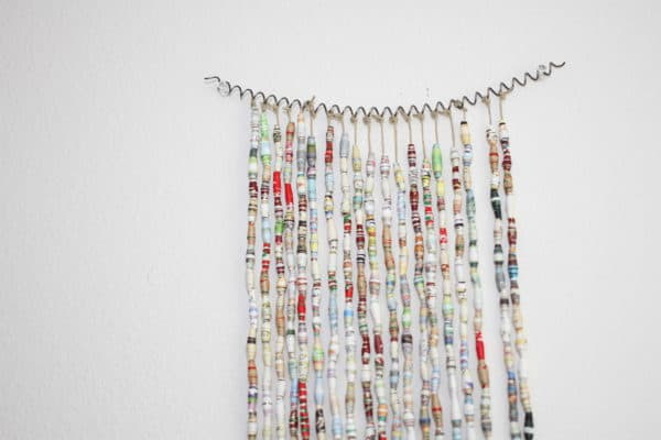 Book Bead Curtain in paper  with Recycled Paper & Books DIY Curtain Books