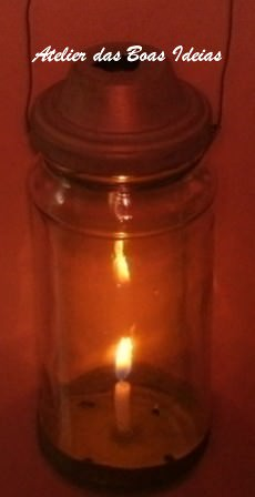 Lantern Made ​​with Glass Jar Do-It-Yourself Ideas Lamps & Lights