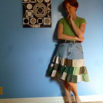 Shirts + Shorts = Salvaged Skirt