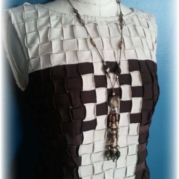Upcycled Basket Weave - T-Shirt Party Dress