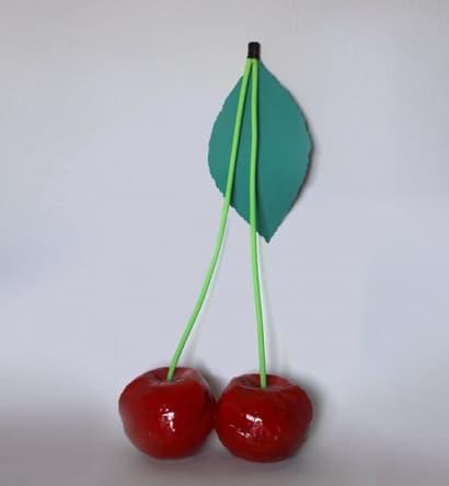 Handmade cherry shaped bag
