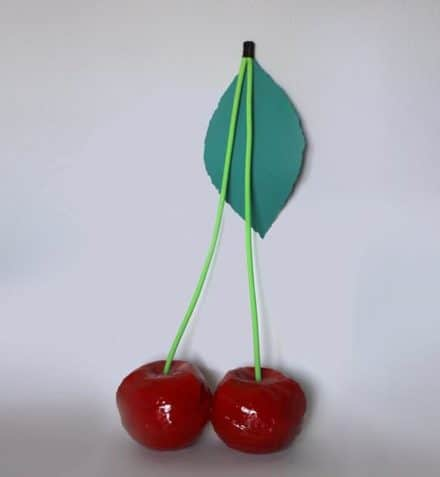 Handmade cherry shaped bag