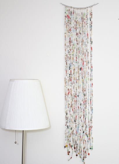 Book Bead Curtain