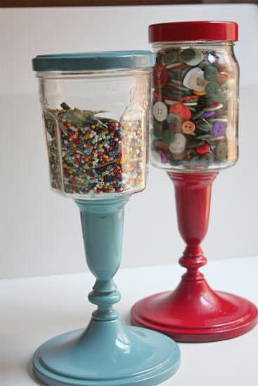 Upcycling jars into storage Accessories Do-It-Yourself Ideas Recycled Glass Recycled Packaging