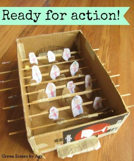 Diy Foosball Do-It-Yourself Ideas Recycled Cardboard