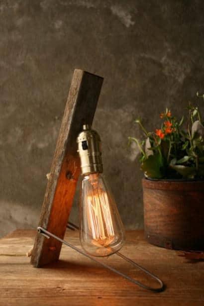 Vintage Wood Lamp