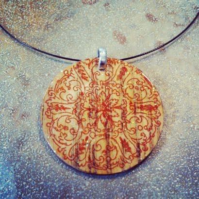 Scrap wood pendant