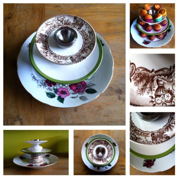 Upcycled cake stand in diy  with Upcycled Cup Accessories
