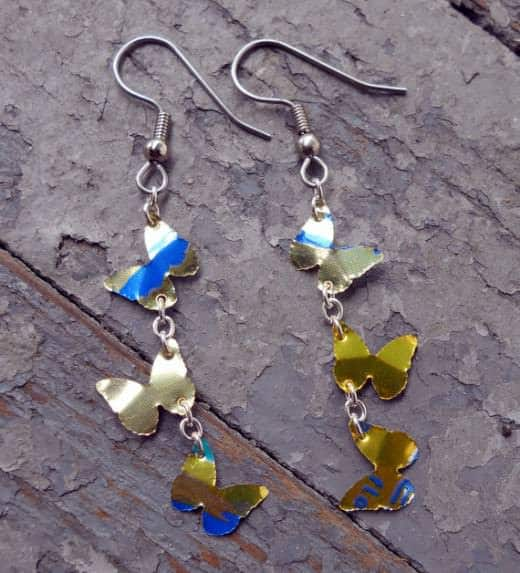 How to Make Recycled Aluminum Can Earrings Do-It-Yourself Ideas Upcycled Jewelry Ideas