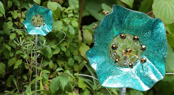 Fancy Pansies with Upcycled Cd's Garden Ideas Recycled Electronic Waste