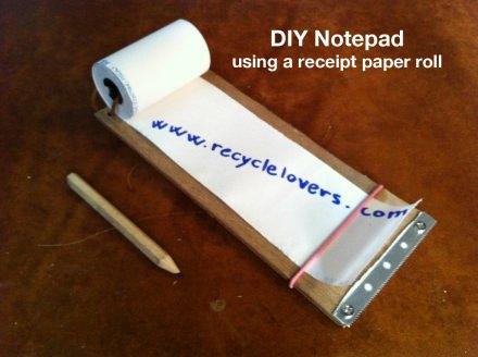 DIY Notepad using a receipt paper roll