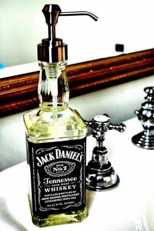 Bottles reused as soap dispensers