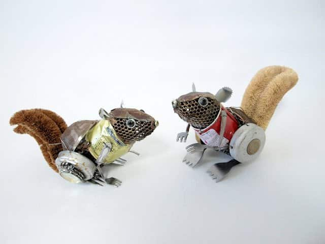 Animal Sculptures Made from Recycled Materials in art  with Trash Recycled Art Recycled Animals