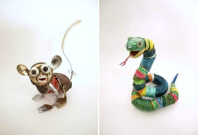 Animal Sculptures Made from Recycled Materials Recycled Art