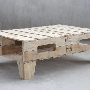 Pallet shelves and coffee table by M&M Designers