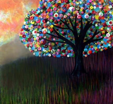 Button Trees by Monica Furlow