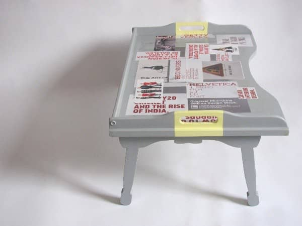 Decorated Vintage Breakfast Table Recycled Furniture