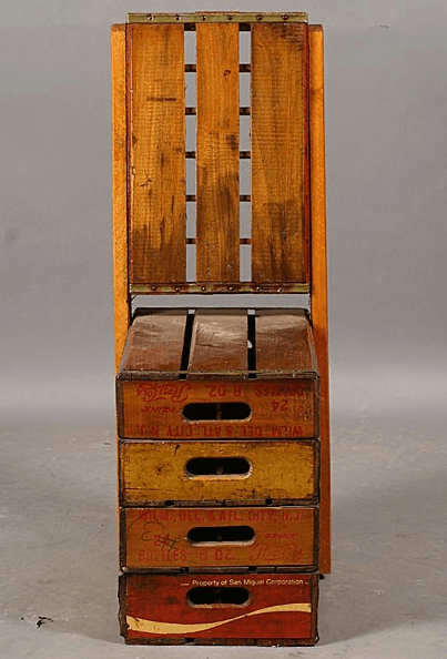Soda chair in furniture packagings  with Wood soda reclaimed Chair Box