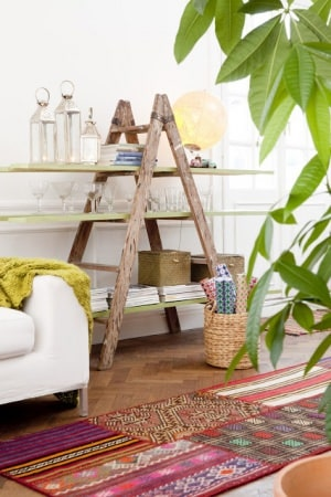 Ladder bookshelves