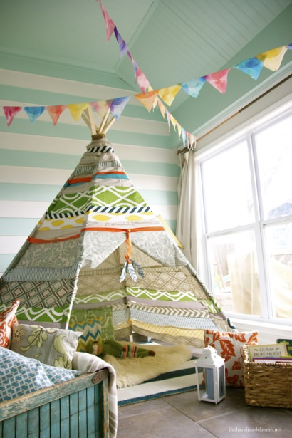 DIY: fabric teepee (no sew)