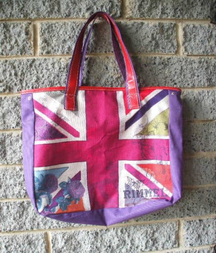 Giveaway Branded Tote Transformed Into Altered Couture