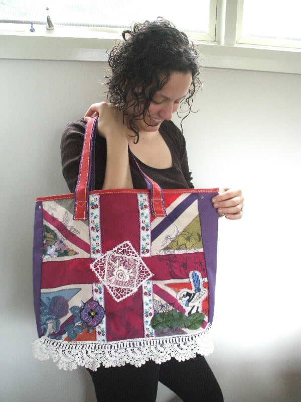Giveaway Branded Tote Transformed Into Altered Couture Accessories