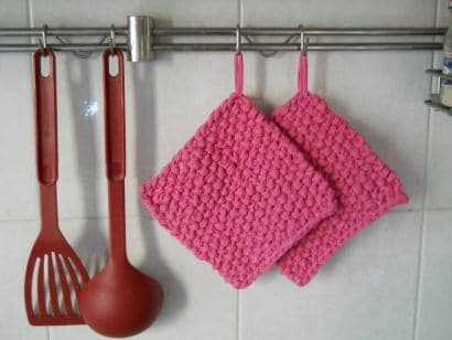 Potholder from an old T-shirt
