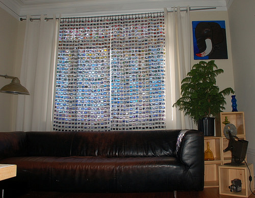35mm Film Slide Curtains in diy  with Upcycled