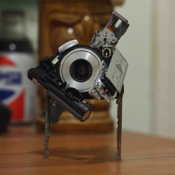 Cambots: Robots from Camera Parts Recycled Art Recycled Electronic Waste