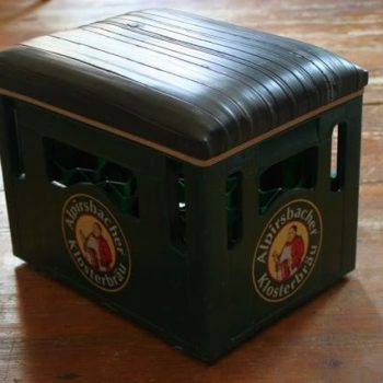 Beer crates stool
