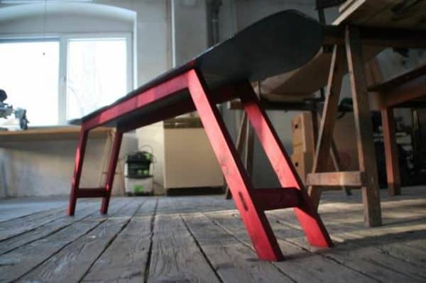 Repurposed Snowboard Into Bench Recycled Furniture Recycled Sports Equipment