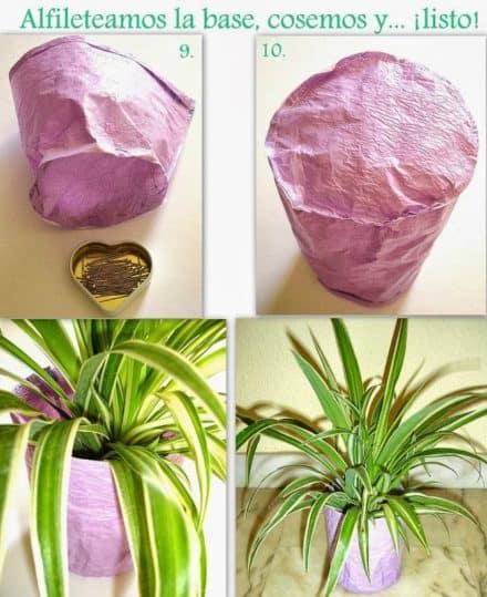 Recycled bags planter / Taller de bolsas recicladas