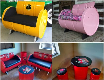 55-gallon Steel Drums Upcycled Into Furniture