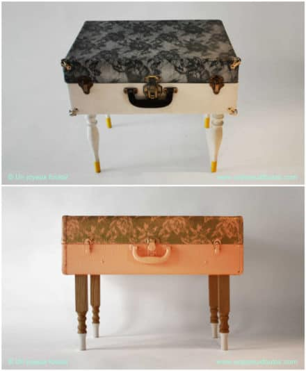 Vintage Suitcases Into Tables