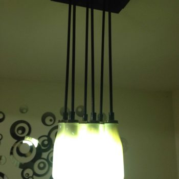Lamp Made Out Of Recycled Starbucks Coffee Cans
