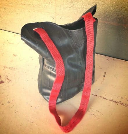 Bike Tube Upcycled Into Tote Bag