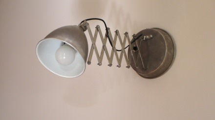 Wall lamps from recycled materials